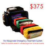 First Responder Jump Bag Emergency Treatment System - click for details and to purchase
